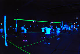Blacklight Volleyball Game