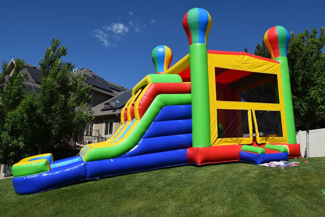 Dual Slide Bounce House With Water Slides Canyon Party Rental